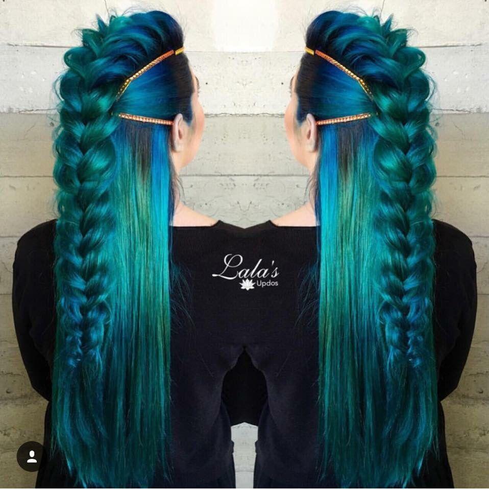 Blue green teal hair amazing hair pinterest teal hair blue