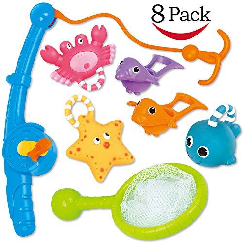 Jouet de bain pêche flotant jouets et soucoupe deau avec sac ...