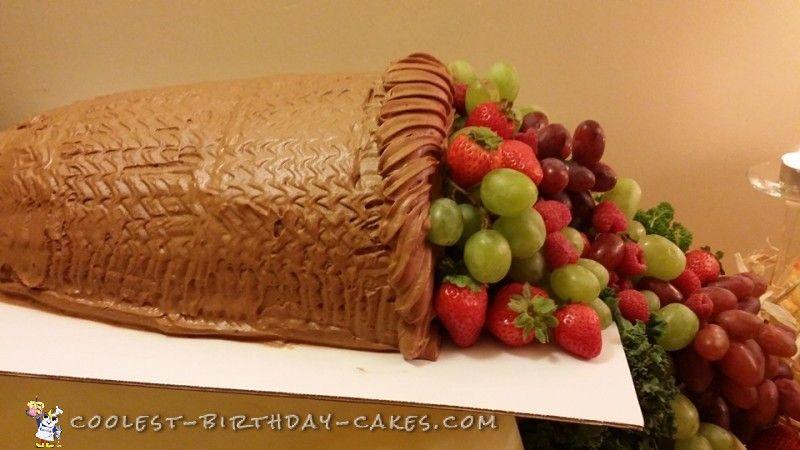 Cool Homemade Thanksgiving Cornucopia Cake Pinterest