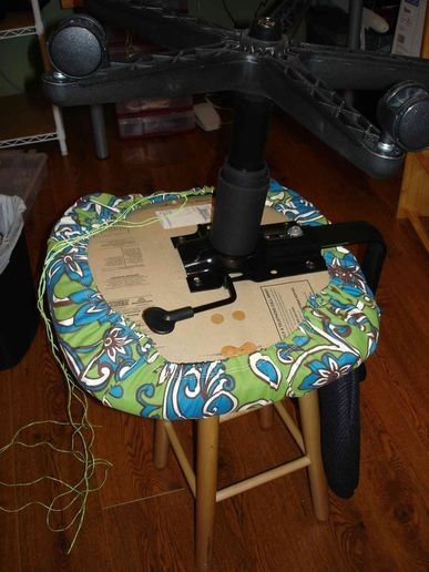Office Chair Slipcover Tutorial #OfficeChair