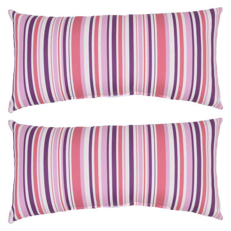 Plantation Patterns Stripe Lumbar Pillow - 7383-02288576