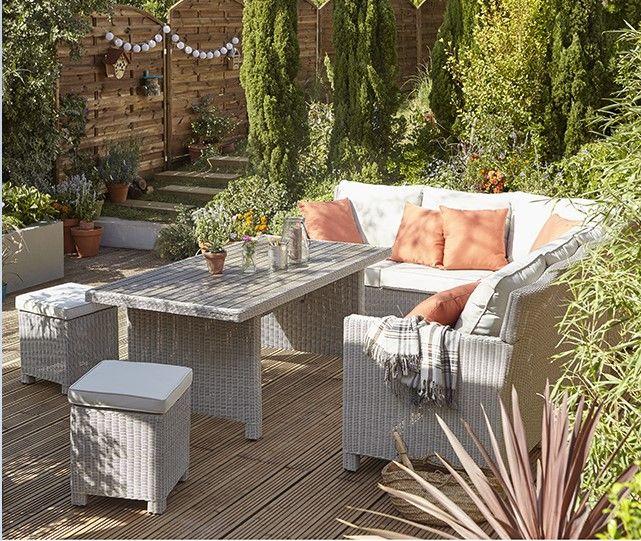 Canapé du0027angle de jardin Praslin Blooma Meubles pas Cher Pinterest - salon d angle de jardin