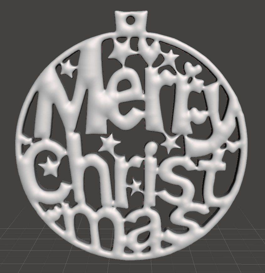 Merry Christmas 2020 3d Printer Ornament Christmas Tree Ornament   Merry Christmas by 3d decoratie
