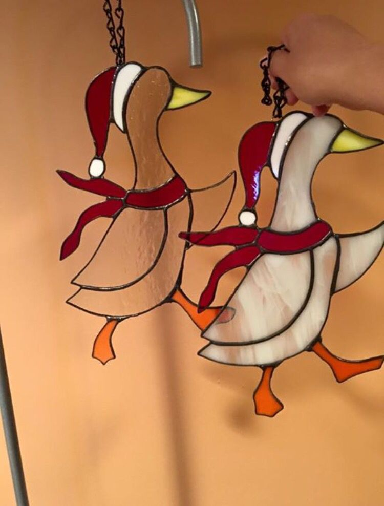 Stained glass ducks                                                                                                                                                      More