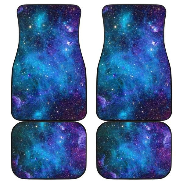 Teal Purple Stardust Galaxy Space Print Front And Back Car