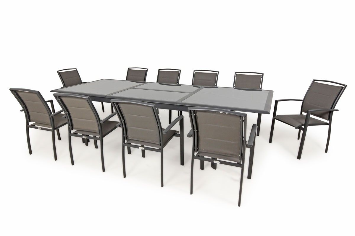 Outdoor Extension Table Barton 11pc Fully Extended Extension Table