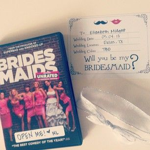 bridesmaid request---cute way to ask your girls to be your ...