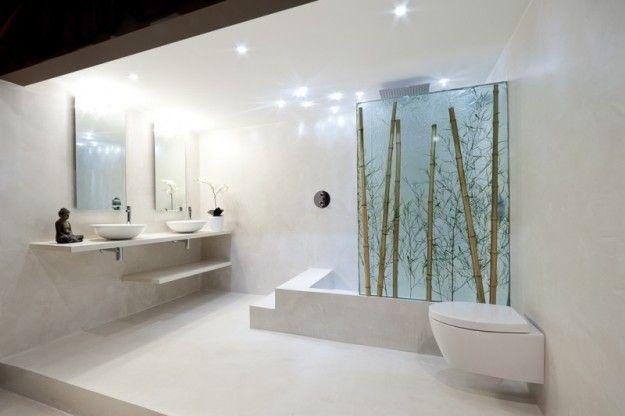 Pavimenti in resina bagno con pavimento in resina semilucida
