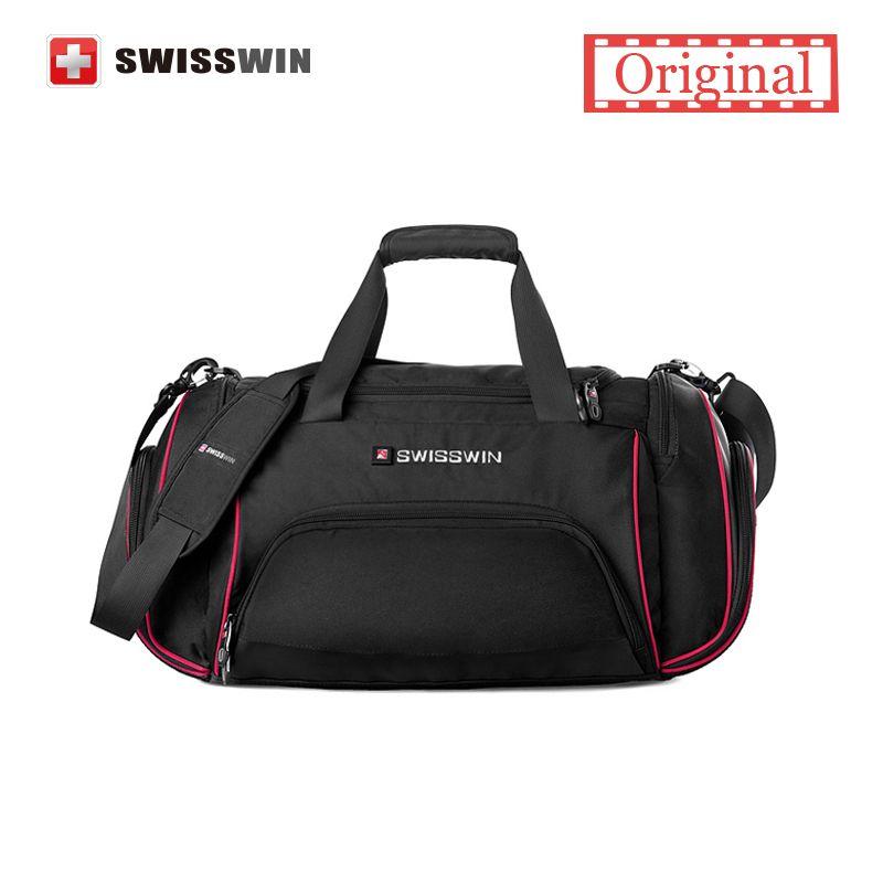 Swisswin Travel Bag Male Large Capacity Lightweight Messenger Shoulder Women Big Portable Duffel