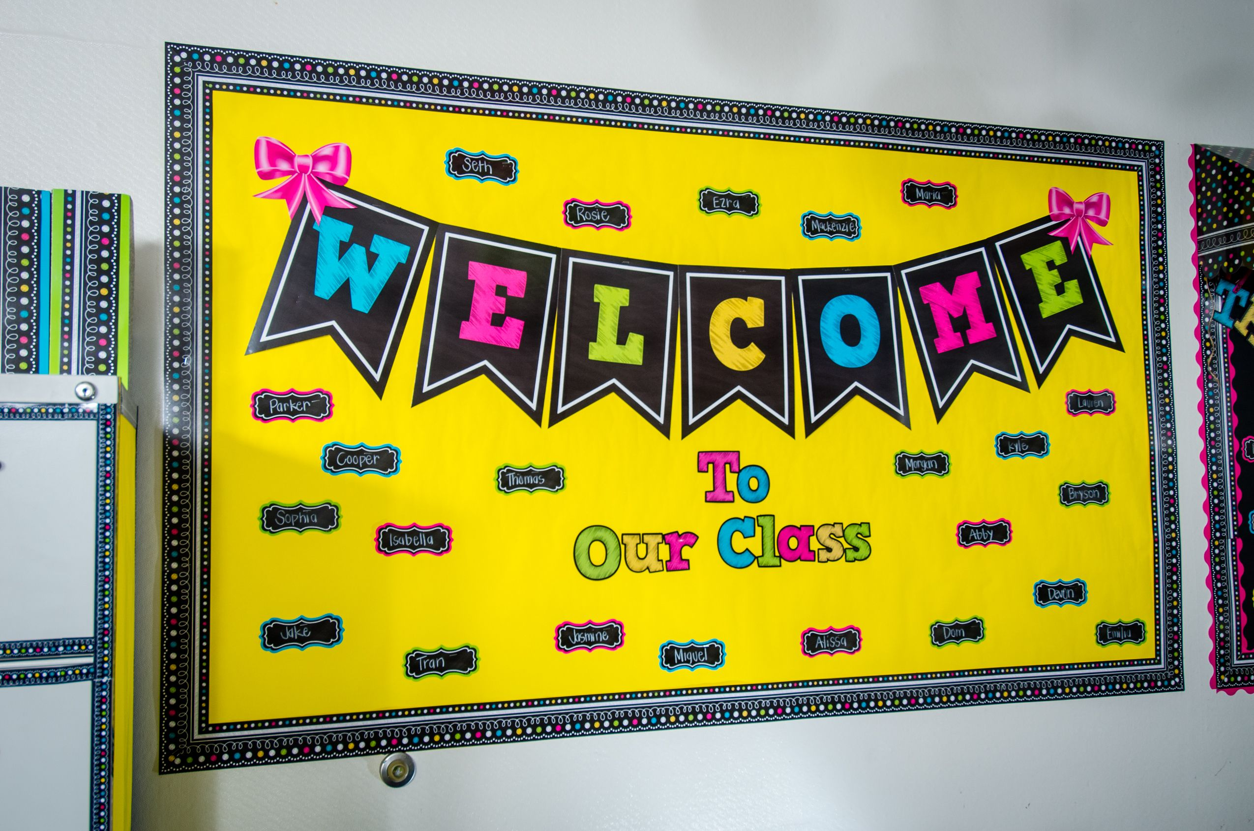 Welcome to Our Class Chalkboard Brights Bulletin Board | Welcome ...
