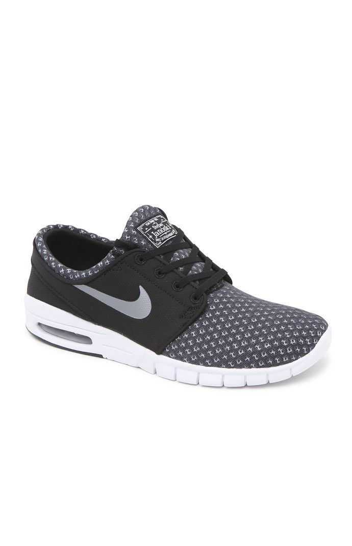Hooked on Stefan Janoski Max Black & Gray Shoes that I found on the PacSun App