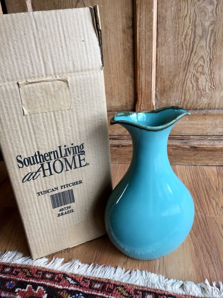 Southern Living at Home Tuscan Pitcher NEW IN BOX Southern living