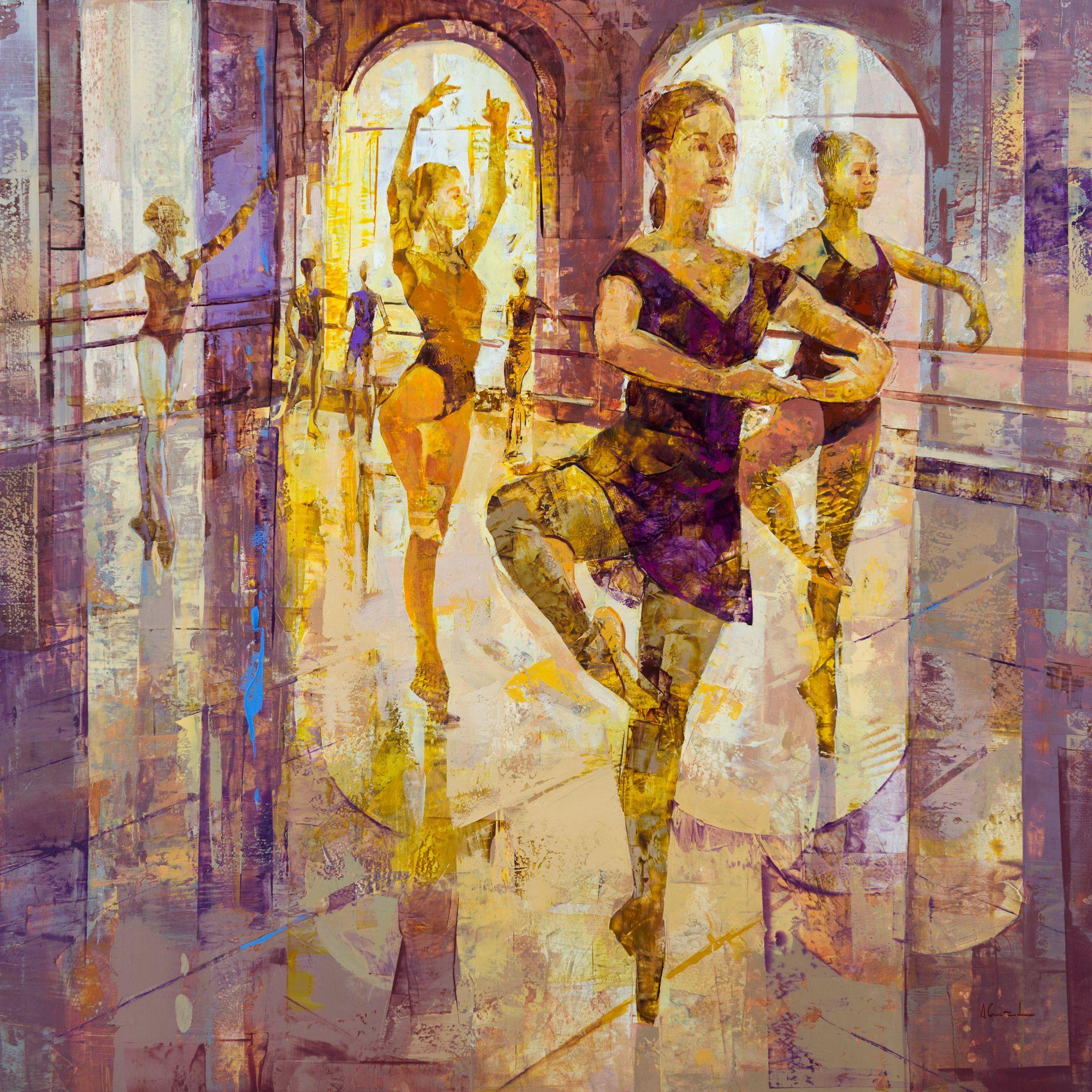 Oil on panel Alfonso Cuñado Spain. 100x100 cm