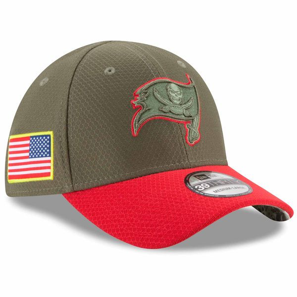 Tampa Bay Buccaneers New Era Toddler 2017 Salute To Service 39THIRTY Flex  Hat – Olive f43351d0596c
