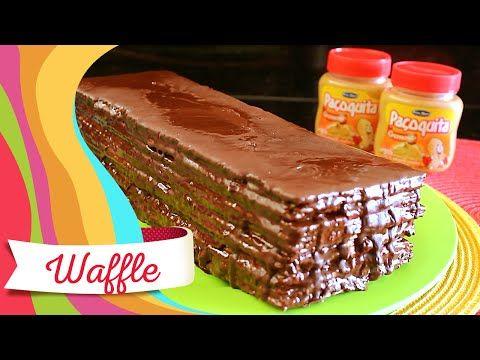 Waffle Gigante de Paçoquita Cremosa - YouTube