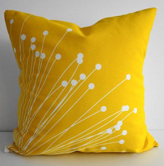 Starburst Yellow Pillow Covers Decorative Throw By Pillows40fun Amazing Starburst Decorative Pillow