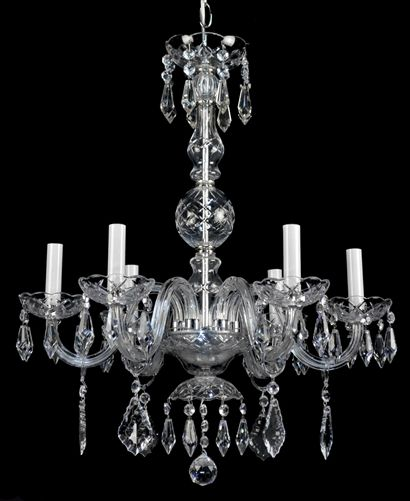 Czech crystal chandelier c1950 chandeliers antiquelighting czech crystal chandelier c1950 aloadofball Image collections