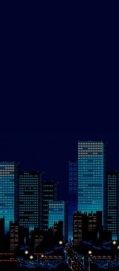 Streets Of Rage City Background Great Use Of Color Pixelart
