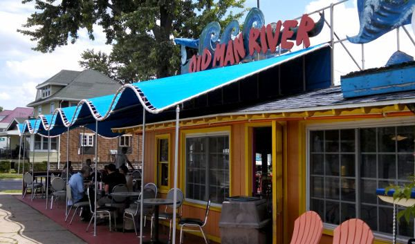 Old Man River Doghouse And Seafood Shack Dog Houses River Hot Dog Stand