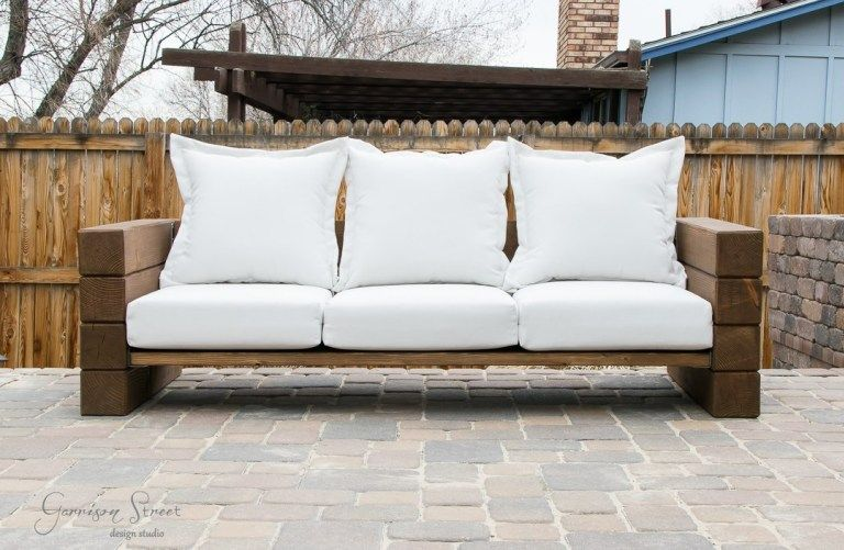 Diy Outdoor Sofa Garrison Street Design Studio In 2020 Outdoor Sofa Diy Outdoor Diy Outdoor Seating
