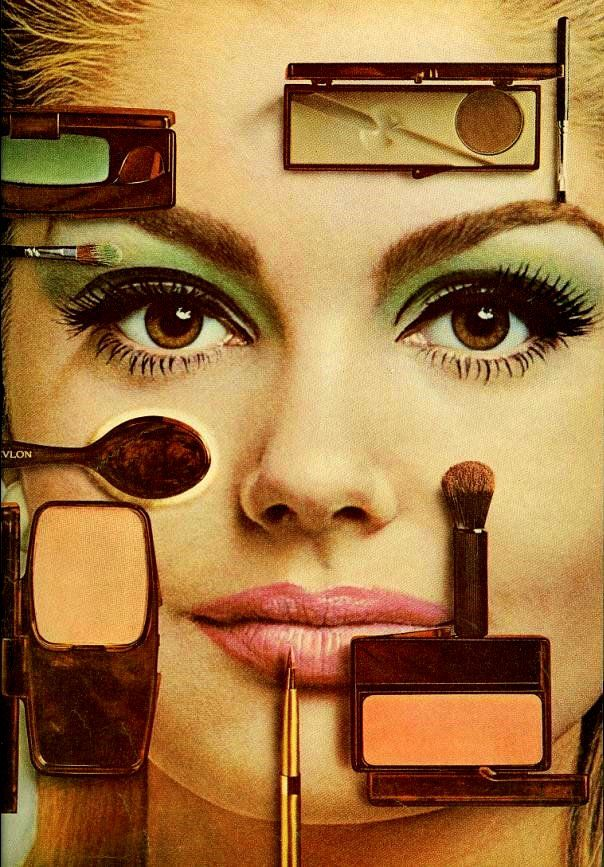 60s cosmetic ad. Mademoiselle, March 1966
