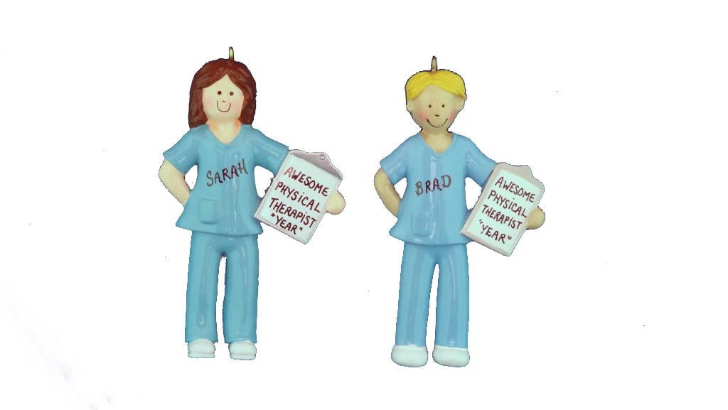 Personalized Physical Therapist Ornament-Christmas ...