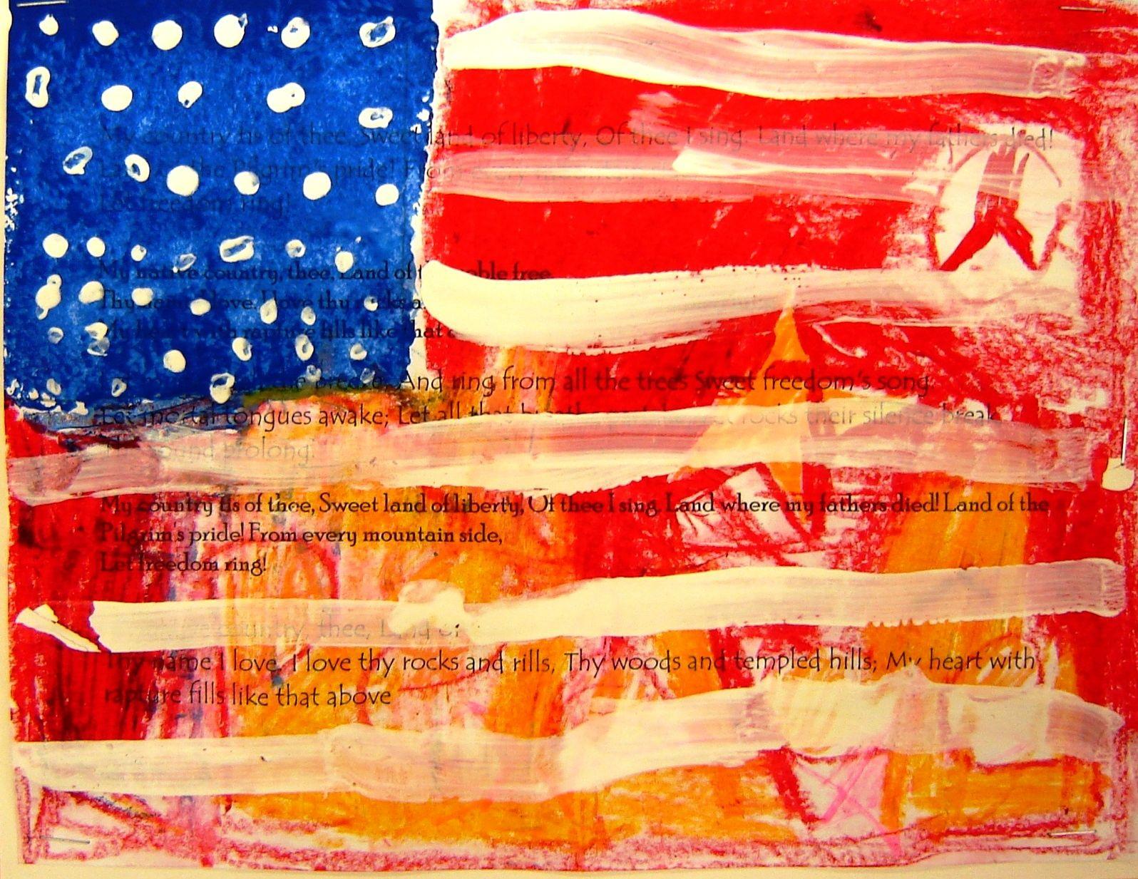 For The Love Of Art Flag Art Jasper Johns Kids Art Projects