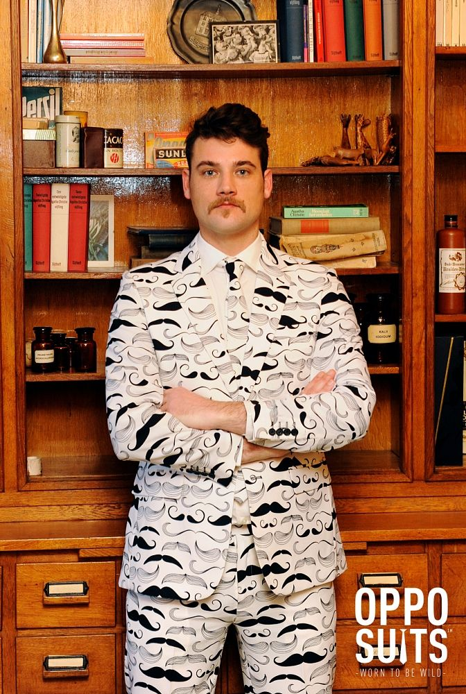 Well-fitted moustache costume / suit. $99.95. High Quality. Fast Delivery.  sc 1 st  Pinterest & Tashtastic