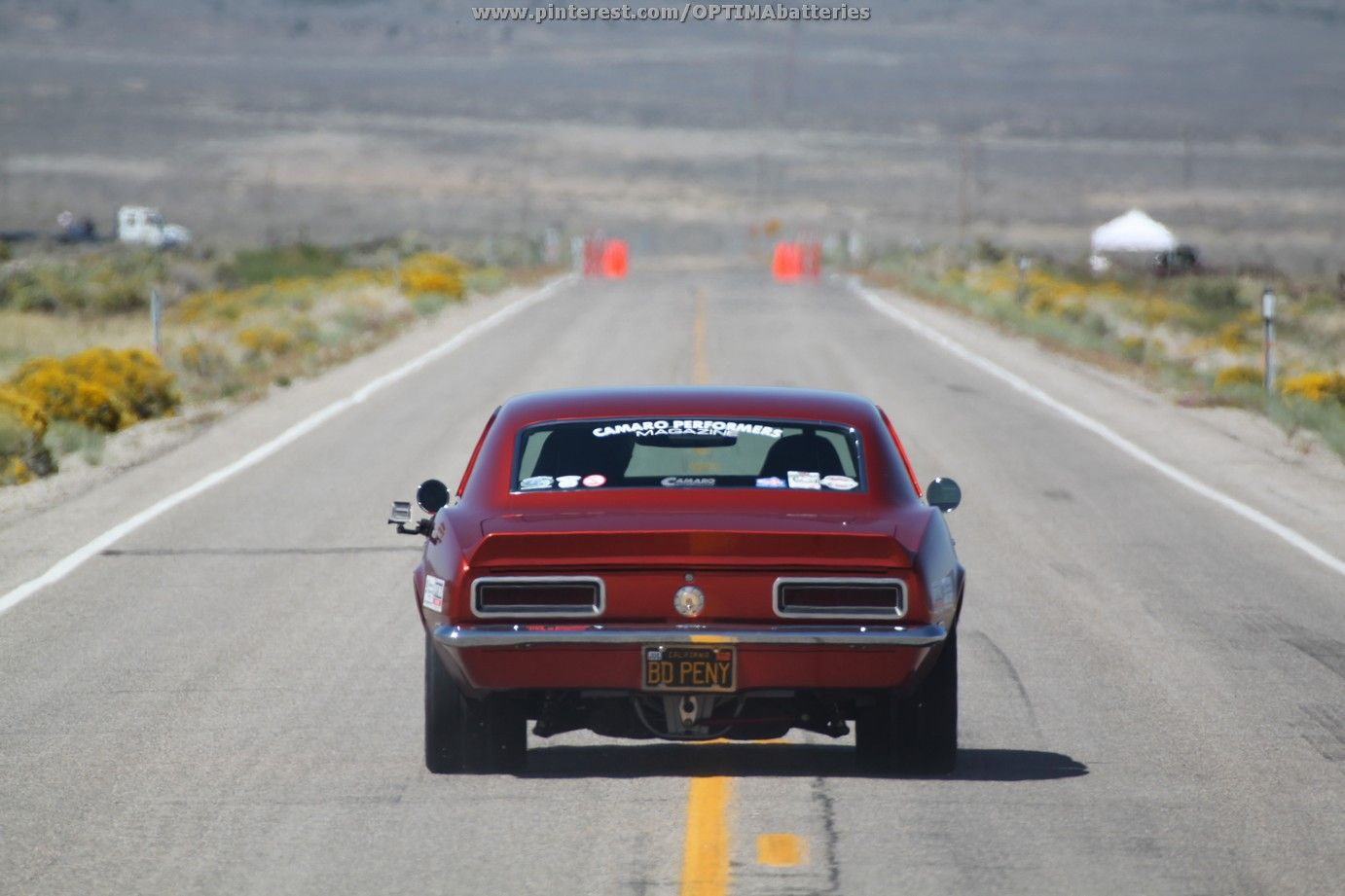 Steven Rupp's Bad Penny Camaro makes a run in the half-mile shootout at the 2012 Silver State Classic Challenge