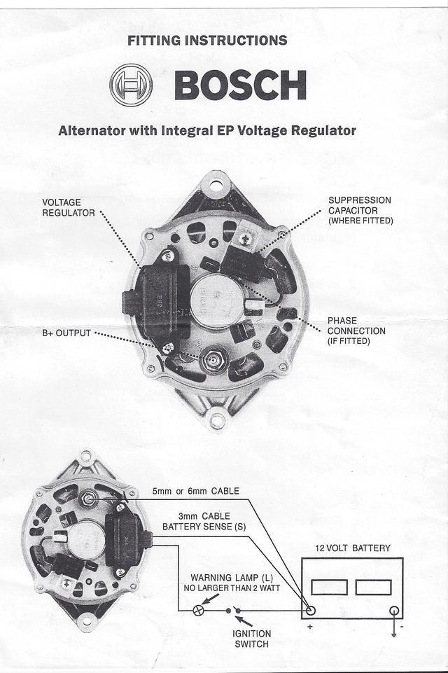 Bosch internal regulator alternator wiring diagram. Toyota