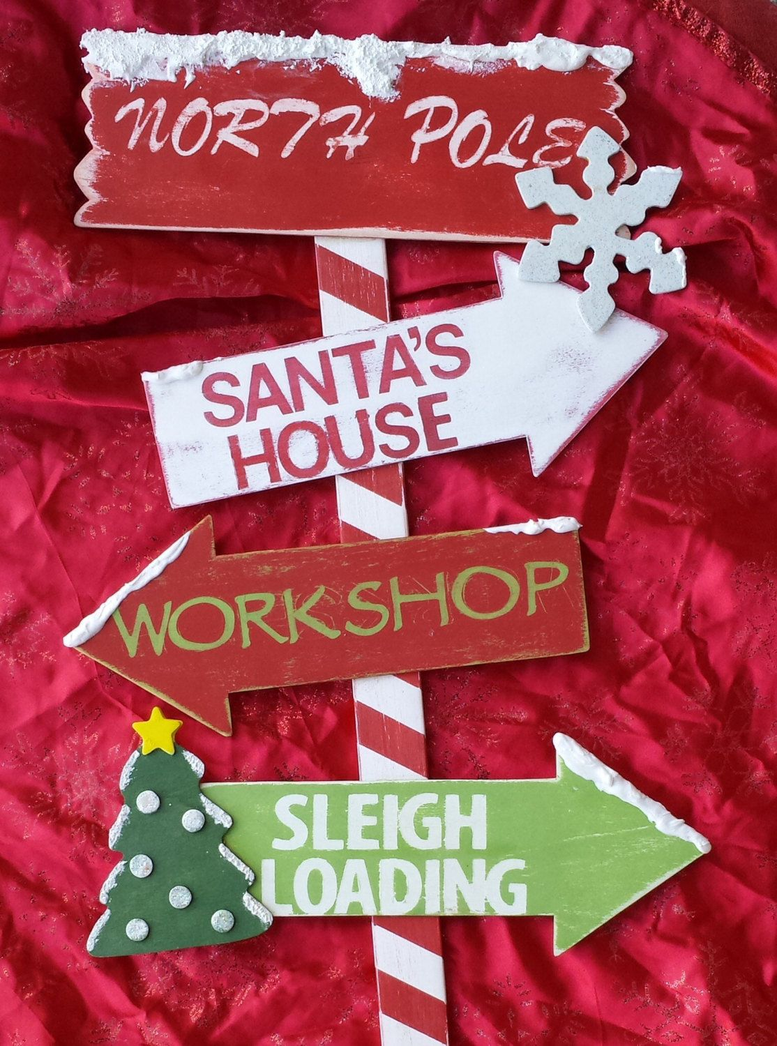 Christmas Decor Wooden North Pole Yard Stake By Mommymelmadeit 40 00