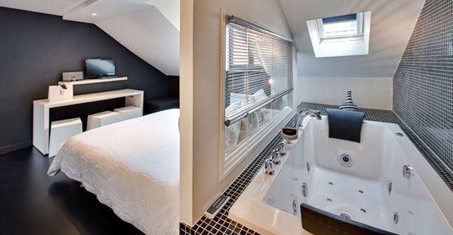 Les secrets d\'une salle de bains ouverte sur la chambre | Salle de ...