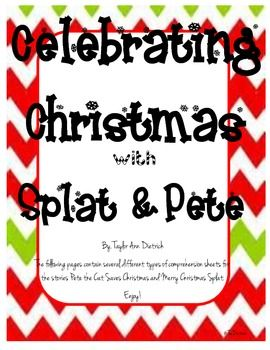 Celebrate christmas with Splat and Pete the Cat!