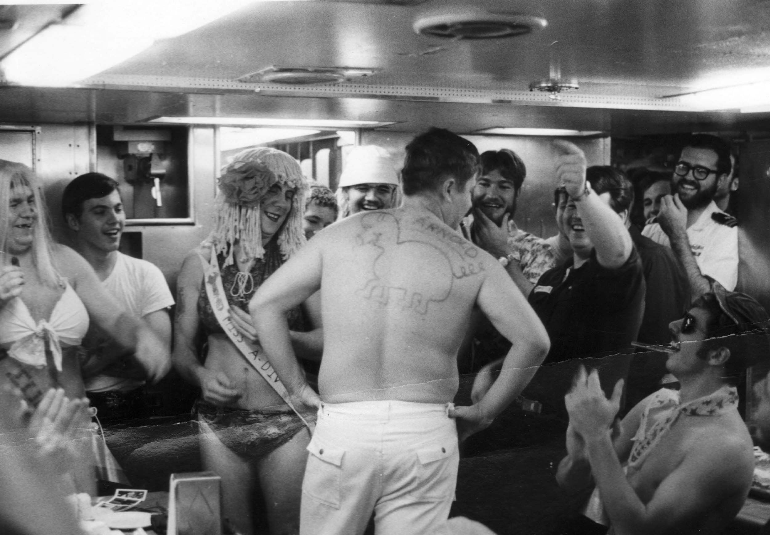 Halfway Night 1975 on the USS George Washington SSBN 598