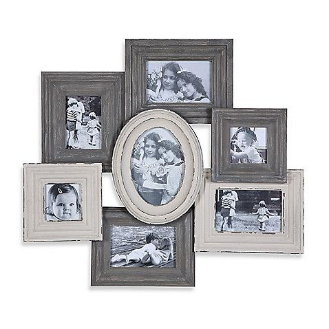 This charming picture collage has room for pictures of the whole ...