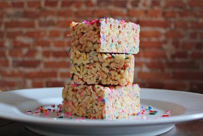 Birthday Cake Rice Krispie Treats - http://www.pindandy.com/pin/2113/