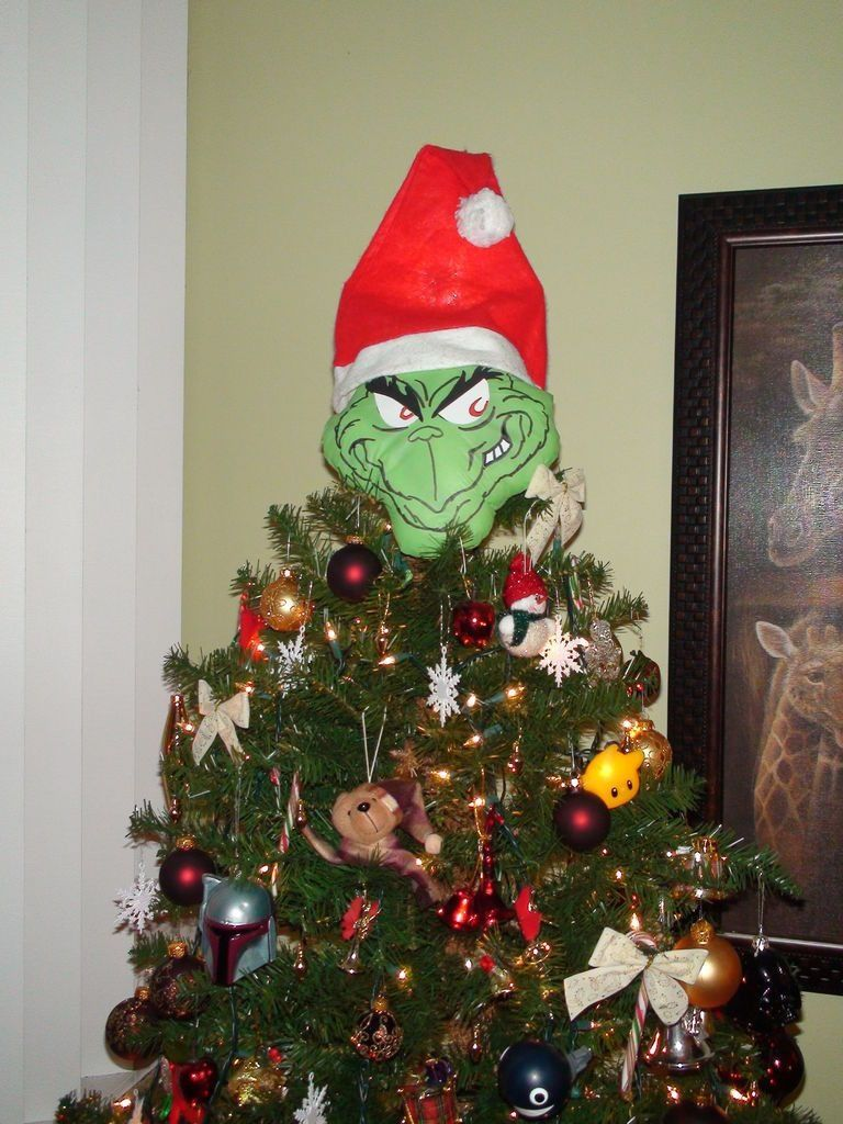 Grinch Tree Grinch Christmas Tree Topper Grinch Christmas Tree Christmas Tree Toppers