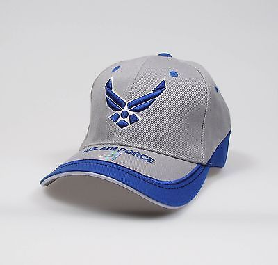 """U.S.Air Force Adjustable """"""""One Size Fits Most"""""""" Hat - Blue/Grey"""