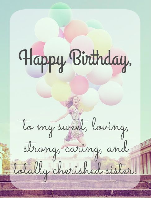 Happy Birthday Wishes To Sister ~ Happy birthday sister pinteres