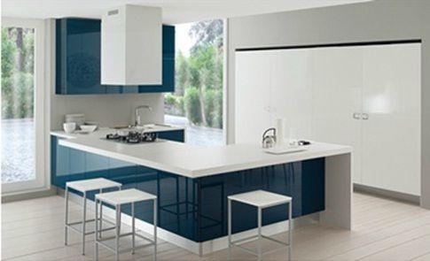 cocina-color-azul-6jpg (485×295) Decoracion Pinterest Decoración - cocinas italianas