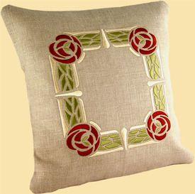 Thorny Rose Pillow - Burgundy