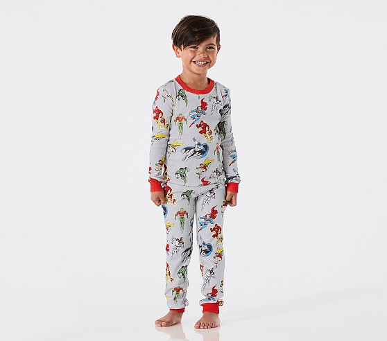 Glow In The Dark Justice League Tight Fit Pajamas