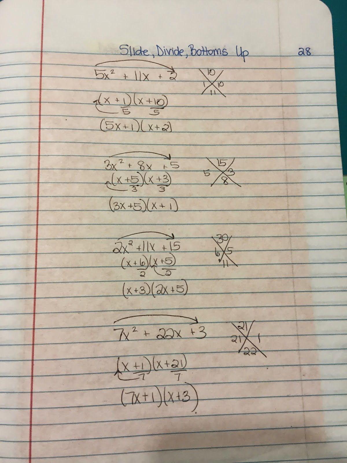 Misscalcul8 Algebra 2 Unit 3 Factoring In