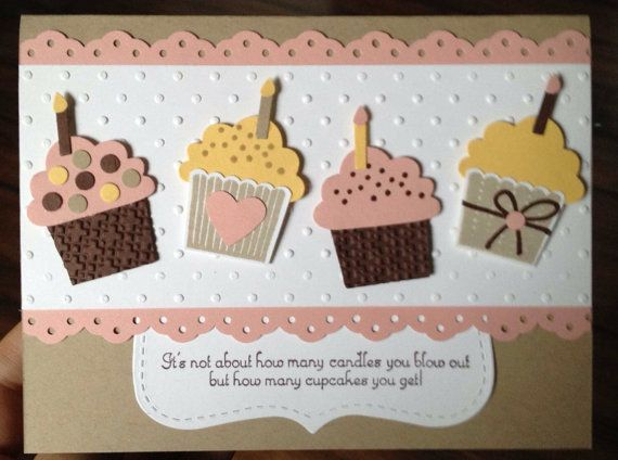 Items similar to Birthday Cupcake Card, Stampin Up paper on Etsy