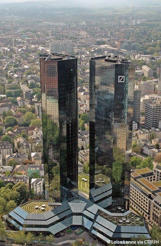 Torres Gemelas del Deutschebank de Frankfurt am Main