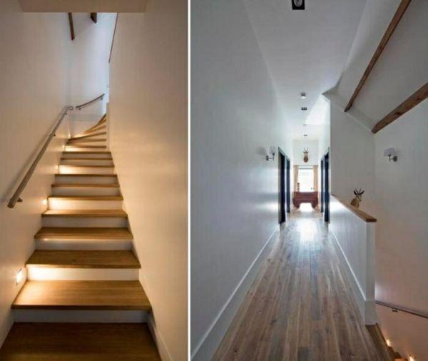 moderne treppen beleuchtung aus holz gestalten treppe. Black Bedroom Furniture Sets. Home Design Ideas