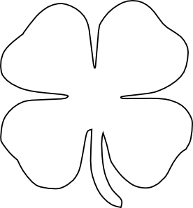 st patrick s day shamrock cake leaf clover outlines and clip art rh pinterest nz  4-h clover logo clip art