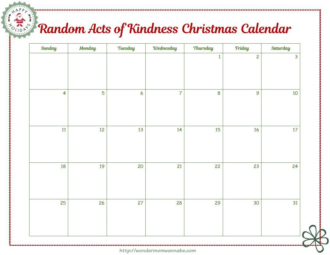 Blank Raok Calendar Chrismas Ideas Pinterest Christmas