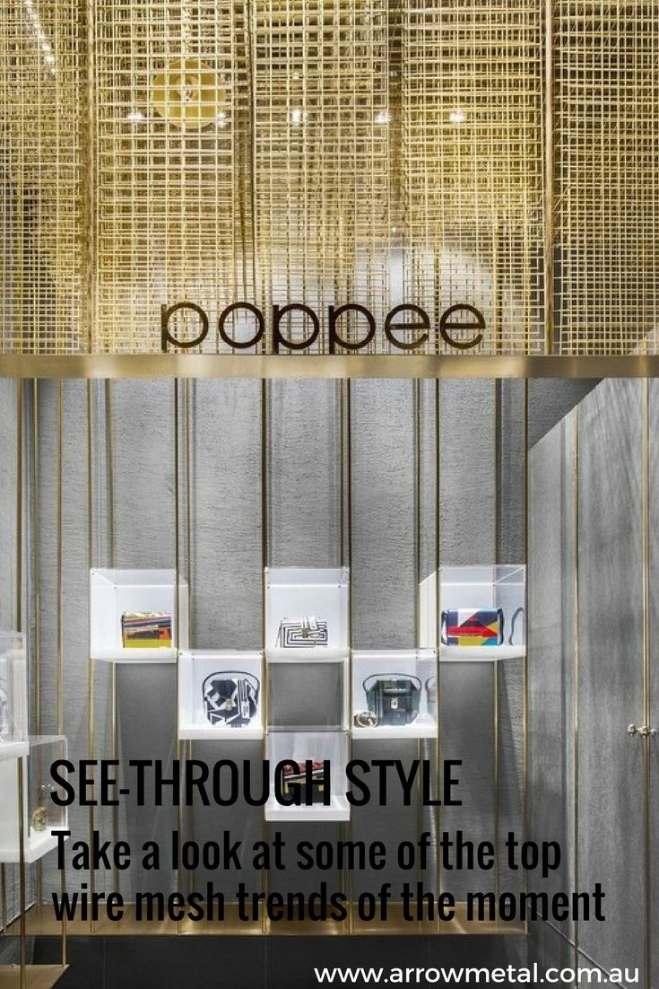 Wire Mesh Trends: See-Through Style | Wire mesh, Architectural ...