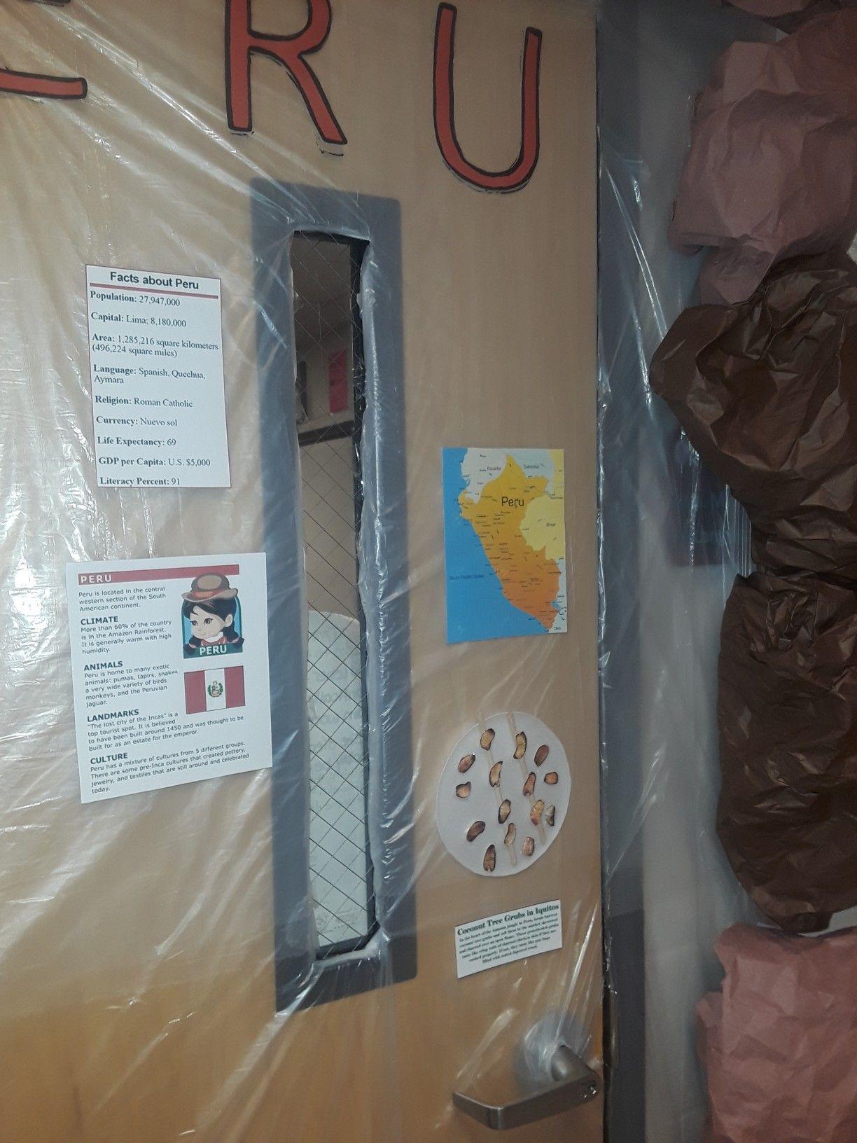 Peru Classroom Door